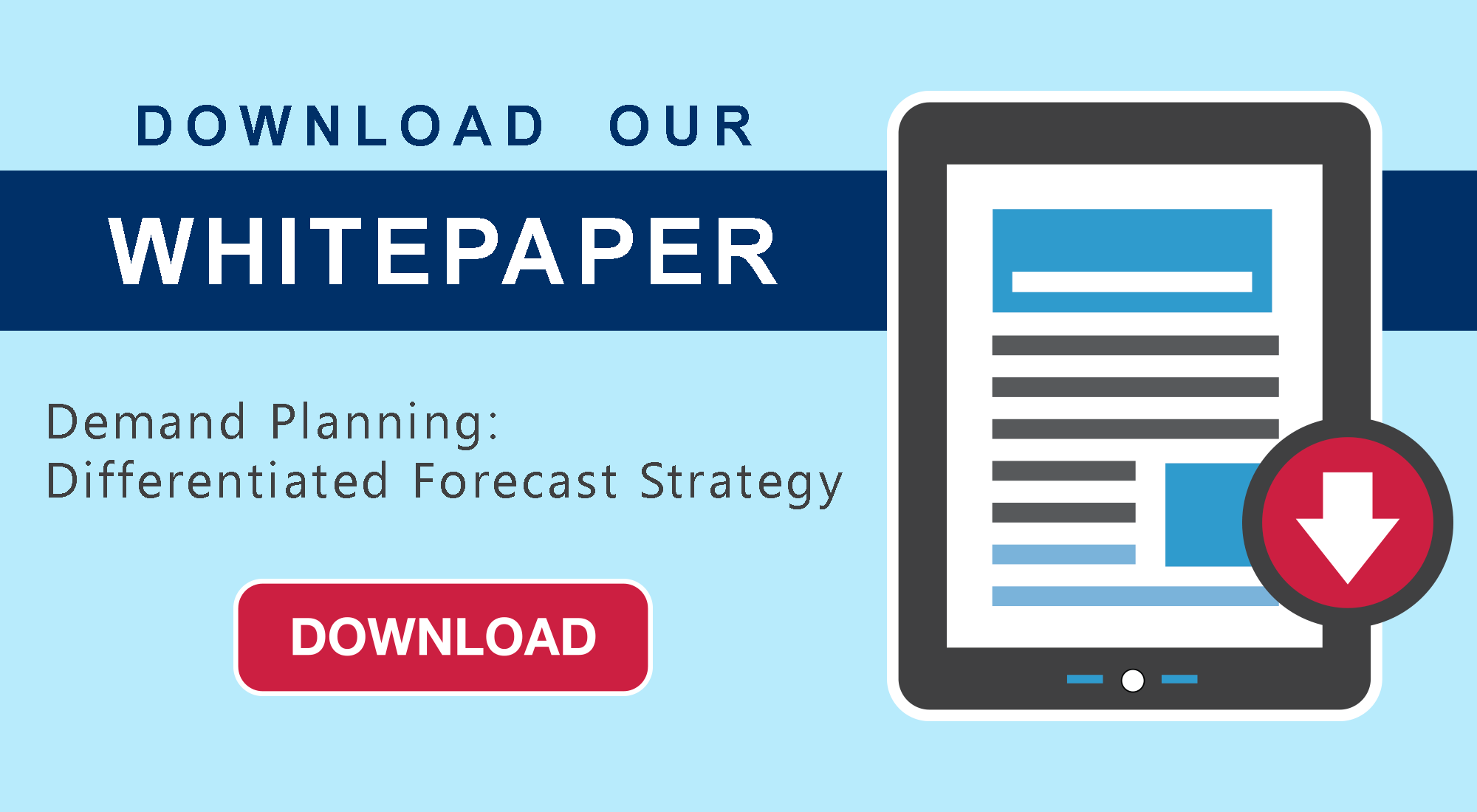 Demand Planning Differentiated Forecast Strategy Whitepaper